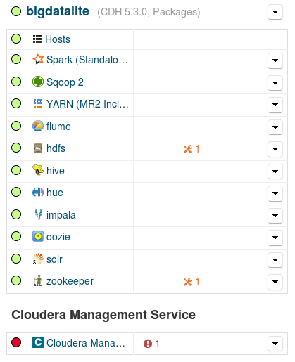 Cloudera Manager Configuration Issues
