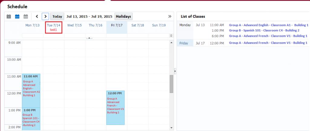ADF Calendar